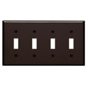 85012 BROWN 4G TOGGLE SWITCH PLATE