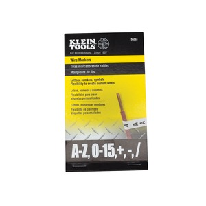 56253 WIRE MARKERS-BLK LETTERS # SYMB
