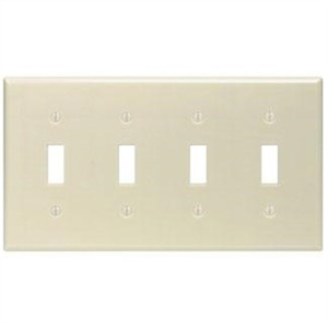86012 IVORY 4G TOGGLE SWITCH PLATE
