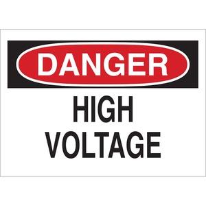 25532 SIGN DANGER HIGH VOLTAGE 7X10