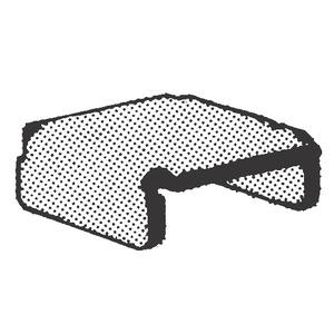 A804EG END CAP HOT DIP GALV50/BX