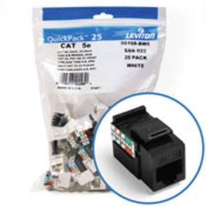 5G108BE5 JACK CAT 5E BLACK (25 PK)